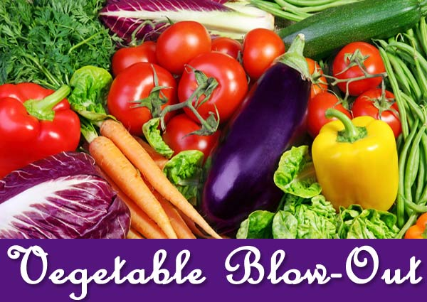 vegetable blow-out