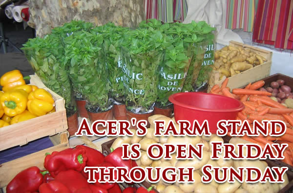 Acer's Farm Stand: Fri.-Sun.