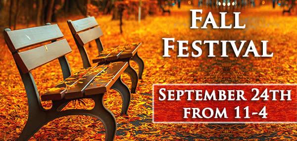 Fall Festival Sept 24th, 11:00-4:00